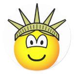 Emoticon of liberty   sticker_sheets
