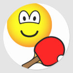 Table tennis playing emoticon ping pong  sticker_sheets