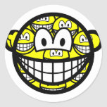 Multiple personality smile   sticker_sheets
