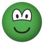 Colored emoticon green  sticker_sheets