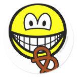 Pretzel eating smile   sticker_sheets
