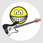Bass playing smile   sticker_sheets