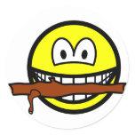 Fetching stick smile Dog  sticker_sheets