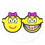 Identical twins buddy icon Girls  sticker_sheets