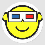 3D glasses buddy icon   sticker_sheets