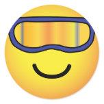 Skier emoticon (it's colder)  sticker_sheets