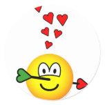 Cupids hit emoticon   sticker_sheets