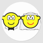 Married buddy icon bride and groom  sticker_sheets