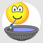 Water fountain emoticon drinking  sticker_sheets