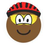 Biker emoticon muddy  sticker_sheets