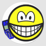 Mobile phoning smile   sticker_sheets