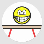 Balance beam smile Olympic sport Artistic gymnastics sticker_sheets