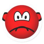 Sad red smile   sticker_sheets