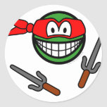 Red Ninja Turtle smile   sticker_sheets