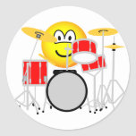 Drumming emoticon Drum kit  sticker_sheets