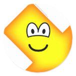 Down right emoticon arrow  sticker_sheets