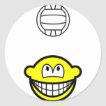 Volleyball playing smile   sticker_sheets