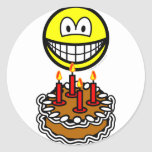 Blowing out candles smile   sticker_sheets