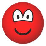 Colored emoticon red  sticker_sheets