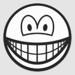 Black and white smile   sticker_sheets