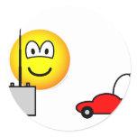 Afstandsbestuurbare auto emoticon   sticker_sheets