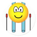 Skiing emoticon   sticker_sheets