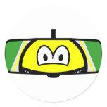 Rear-view mirror smile   sticker_sheets