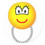 Pearl necklace emoticon   sticker_sheets