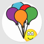 Party balloons emoticon   sticker_sheets