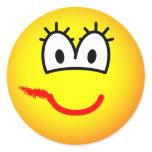 Smudged lipstick emoticon   sticker_sheets