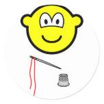 Thimble and needle buddy icon   sticker_sheets