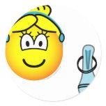 Assepoester emoticon slipper  sticker_sheets