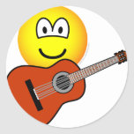 Acoustic guitar emoticon   sticker_sheets