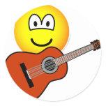 Acoustic guitar emoticon   sticker_sheets