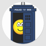 Dr Who emoticon Tardis  sticker_sheets
