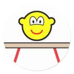 Balance beam buddy icon Olympic sport Artistic gymnastics sticker_sheets