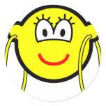 Big hoop earrings buddy icon   sticker_sheets