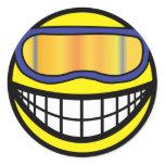 Skier smile (it's colder)  sticker_sheets