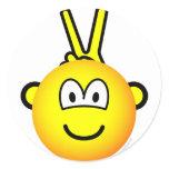 Bunny ears emoticon   sticker_sheets