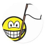 White flag smile   sticker_sheets