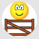 Sitting on the fence emoticon   sticker_sheets