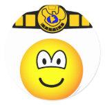Boxing champion emoticon   sticker_sheets