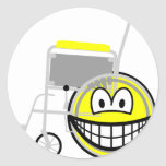Wheelchair smile Side view  sticker_sheets