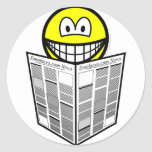 Newspaper reading smile   sticker_sheets