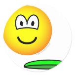 Frisbeeing emoticon   sticker_sheets