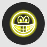 Neon light smile   sticker_sheets
