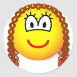 Curly hair emoticon   sticker_sheets