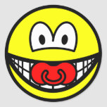 Dummy smile Baby pacifier  sticker_sheets