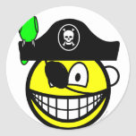 Pirate with parrot smile   sticker_sheets