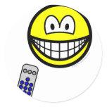 Tv remote smile   sticker_sheets
